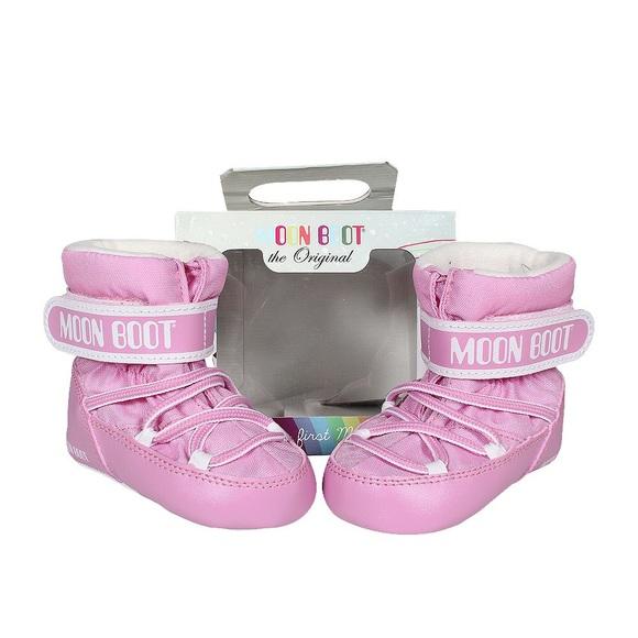 Nwt Infant Girl 45 Pink Moon Boots Crib